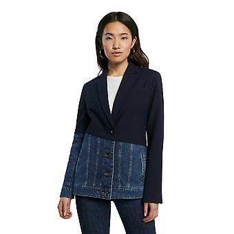 Desigual Kera Hybrid Navy Blazer Blue Jean Jacket SS21 Style 21SWEW76