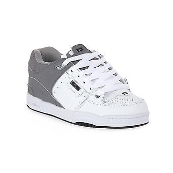 Globe fusion white grey split skate shoes