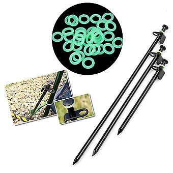 10 pezzi: silicone, a forma di O, chiodo tenda, anello canna da pesca, accessori per luce notturna