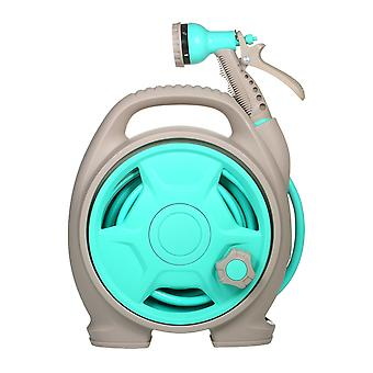Retractable garden hose-reel with 6 adjustable sprayer nozzle dual size connector 10m water garage tool car cleaning tools