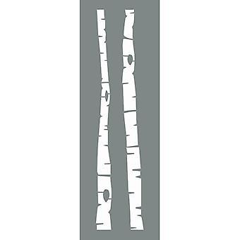 Decoart Stencil - Björkar Pack av 2