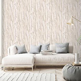 Elle Decoration Marble Wallpaper Blush Pink Gold 1014905