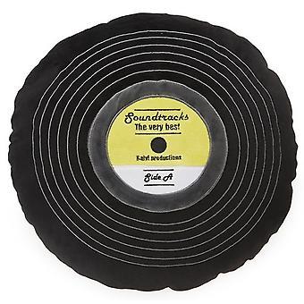 dekokissen soundtracks 37 x 37 cm polyester black
