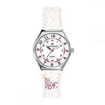 Watch Girl LuluCastagnette Mini Star white bracelet 'apos;Be wild and free'apos; - 38851