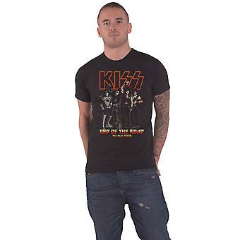 KISS T Shirt End of The Road Tour Band Logo ny officiell mens svart