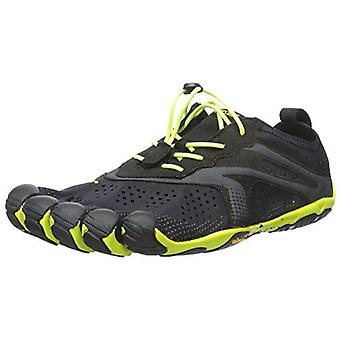 Vibram V-Run Five Fingers Barefoot Mens Running Shoes Trainers - Black/Yellow