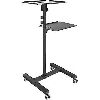 Wokex Beamer-Ständer mit Rollen Projektor-Ständer Rollbar Neigbar (CZ0800) Roll-Wagen Stand-Fuß mit