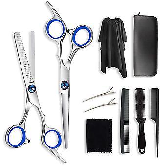 FengChun Haarschneideschere,Friseurscheren Set Rostfreiem Stahl,Haarschere Set mit Friseurumhang,