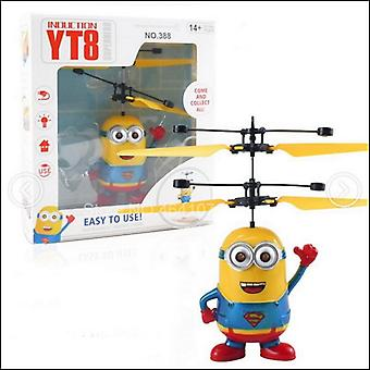Minion Drone, Rc Helicopter, Aircraft Mini Fly Flashing Hand Control,