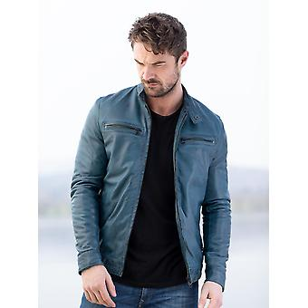Loughrigg Leather Jacket in Blue