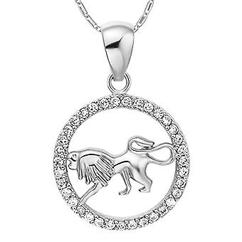 Autiga&reg, Women's Necklace, with zodiac sign pendant of the&rsquo,Aquarium and zircons, gold plated, metal base, color: Ref. 4058433099630