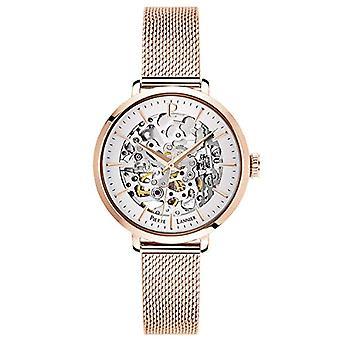 שעון אנלוגי אוטומטי לנשים פייר Lannier עם רצועת נירוסטה מסיבית 313B928