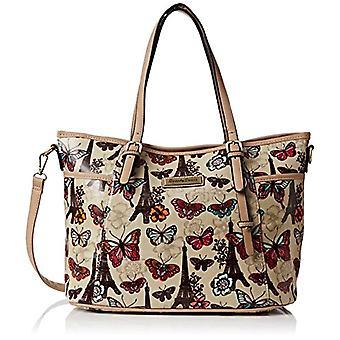 SwankySwans Womens Noel Paris Butterfly Floral Tote, Beige (Beige(beige)), Taille unique