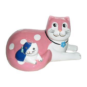 Enesco Nine Lives Cat & Kitten Ceramic Figurine A21950