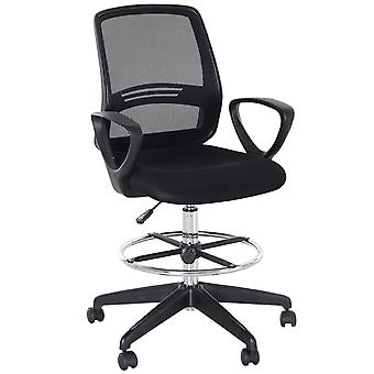 Vinsetto Ergonomic Mesh Back Drafting Chair Tall Office Chair with Adjustable Height and Footrest 360° Swivel