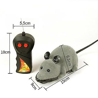 1pc Wireless Remote Control Mouse Toys Cat Small Dog Plush Octopus Puppy Games Cat Toys(gray)