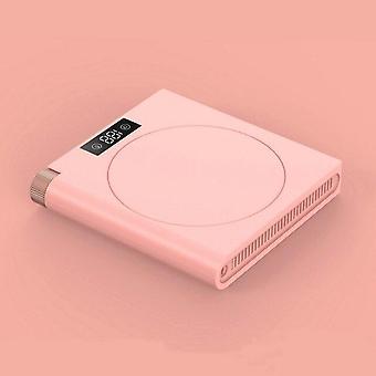 LED Digital Heating Coaster 5 Speed USB Plug in Mug Mat Keep Drink Warm Heater(pink)