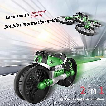 Remote Control Deformed Motorcycle High Definition Camera Aerial Photography Drone Quadcopter(Green)