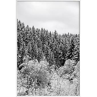JUNIQE Print -  In The Forest - Wälder Poster in Grau & Schwarz