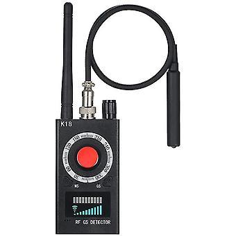 Auto montiert Kameras 1MHZ-6.5GHZ K18 Multi-Funktion Multi-Funktion Anti-Spy Detektor Kamera GSM Finder GPS Signal Signal Objektiv RF Tracker Detect Produkte Wireless Für Auto (schwarz)