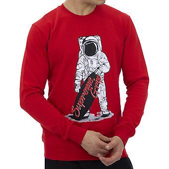 Supreme Grip Men Sweatshirt Mustang Red
