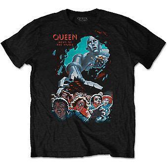 Queen - News Of The World Vintage Unisex Medium T-paita - Musta