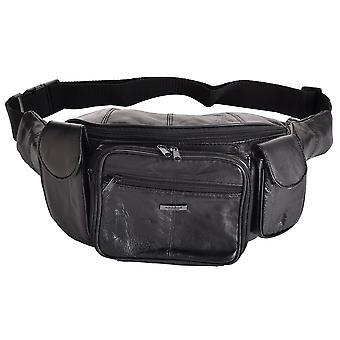 Soft Large Leather Organiser Waist Bag Bumbag