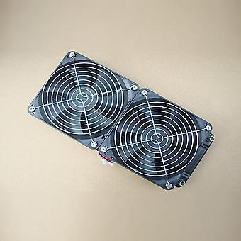 Alumiini 240mm vesijäähdytys jäähdytetty rivi lämmönvaihdin jäähdytin + tuuletin Cpu Pc