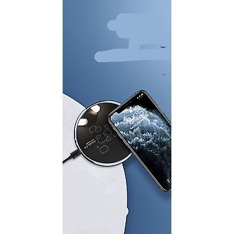 デスクトップディスク超薄型高速充電携帯電話のワイヤレス充電器