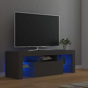 vidaXL TV-kaappi LED-valoilla Harmaa 120x35x40 cm