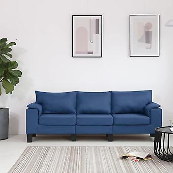 vidaXL 3 canapé-lit bleu tissu