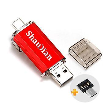 Valós kapacitású flash meghajtó, Type-c Micro-usb, Pen Drive, Smart Phone Thumb