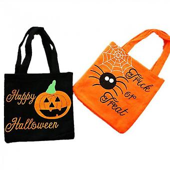2pack Halloween Candy Bags Trick Or Treat Goody Bags,  Halloween Non-woven Bags