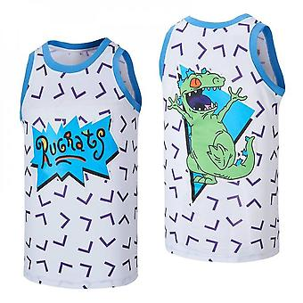 Mens Basketball Jersey Rugrats Reptar Tv Show Jerseys 90s Moive Space Sports Shirts 90s Hiphop Party Clothing Stitched Size S-xxl