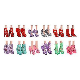 Puppenzubehör, Kleider Kleidung für Barbie Puppe (10 Paar Schuhe)