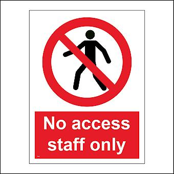 PR163 No Access Staff Only Sign with Person Circle