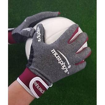 Murphy's Gaelic Gloves 9 / Medium Grey/Maroon/White