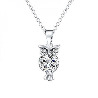 Creative Owl Pendant Necklace For Women, Charming, Zircon Crystal Clavicle Chain, Trendy, Jewelry Wedding Gifts
