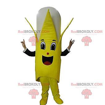 Maskottchen REDBROKOLY.COM riesigen gelben und weißen Bananen, Verkleidung der Frucht
