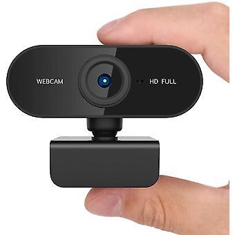 MINI Webcam Full HD 1080P Meeting-Kamera für Windows 10 Laptops in Zusammenarbeit mit Skype Youtube Facebook (Schwarz)
