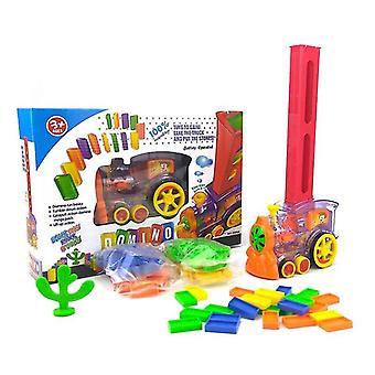 自動ドミノレンガ敷設おもちゃ - 列車の車セットブリッジベルキット