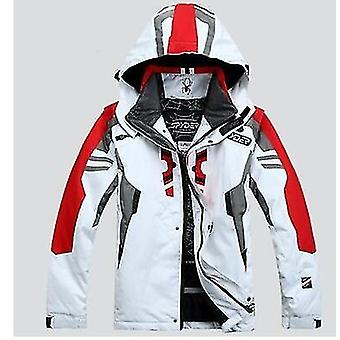 Homens encapuzados de inverno quente parkas jaqueta de neve impermeável para camping de caminhada