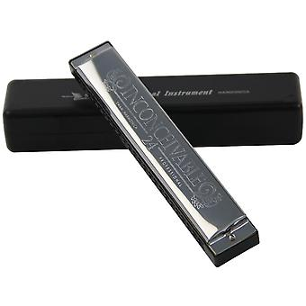 Upgraded Version Swan 24 Holes Octave-tuned Harmonica Key Of C With Case