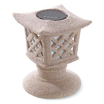 Summerfield Terrace Solar Ceramic Pagoda Garden Light, Paket med 1