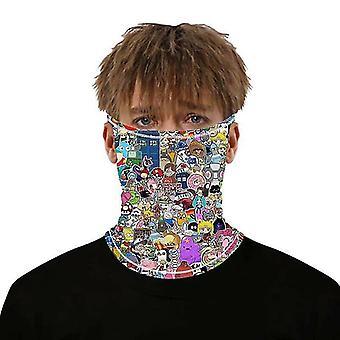 צעיפים (#23) מסכת פנים balaclava רב שימוש צוואר צעיף צינור סנוד אופנוען בנדנה #593