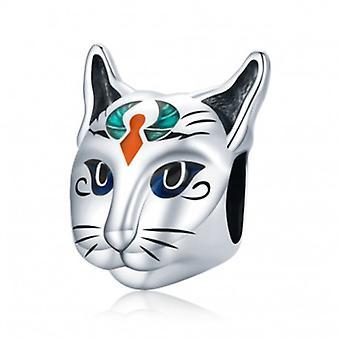Sterling Silber Charm ägypten Bastet Katze - 7114