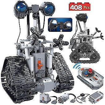Robotic toys 408pcs city creative high-tech rc robot electric building blocks remote control intelligent bricks