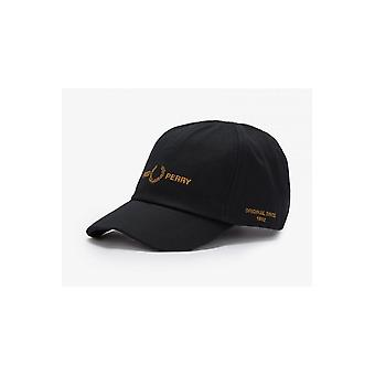 Fred Perry Branded Twill Cap (Black)