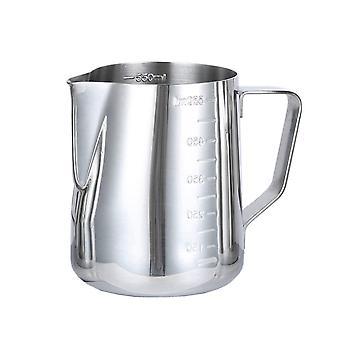 Tasse de mesure fumant pichet frottant tasse de mesure en acier inoxydable avec marquage et poignée