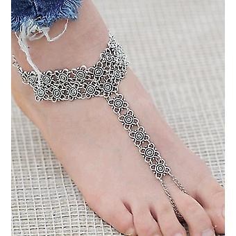 Винтаж чешский цветок ссылка Дизайн Anklet